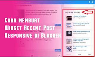 Cara Membuat Widget Recent Post Responsive di Blogger - Widget Recent Post atau Widget postingan terbaru pada blogger merupakan salah satu widget blogger yang bertujuan membuat pengunjung akan lebih mudah mengetahui postingan terbaru sobat. Biasanya recent post di letakan di sebelah kanan blog. Silahkan baca lebih lanjut untuk mengetahui cara membuat widget Recent Post Responsive di Blogger.