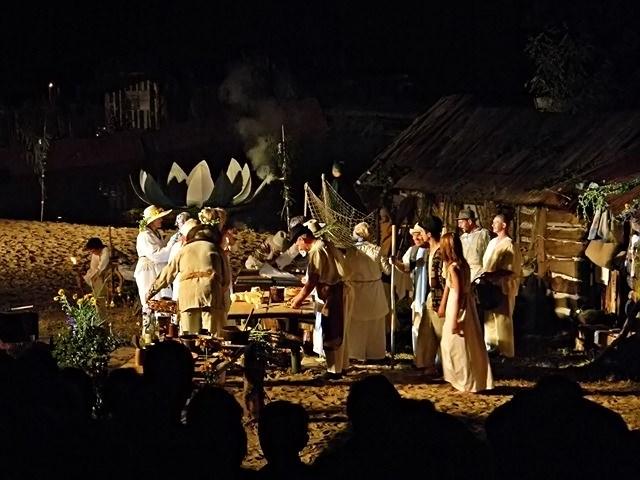 nad jeziorem, przedstawienie, dawne tradycje, obrzędy
