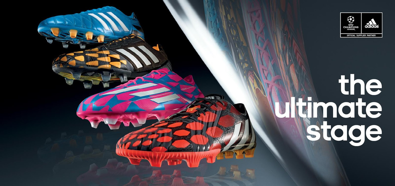 detailed pictures 0f8ae 3af52 ... for the Adizero F50, Predator Instinct, Nitrocharge and Adipure 11pro  Boots, using parts of the well-known Adidas Battle Pack Boot design  patterns.