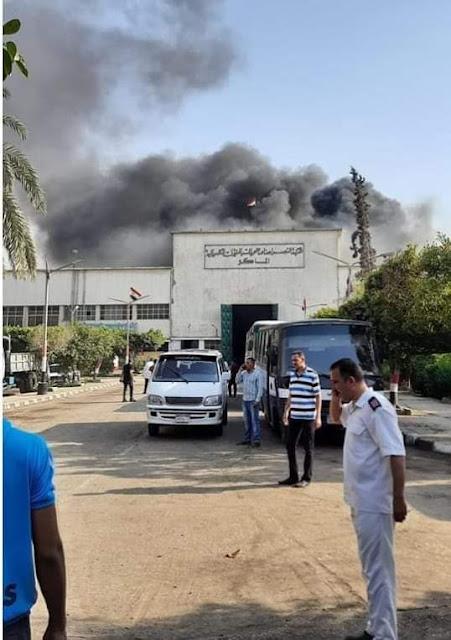اندلاع حريق بشركة النصر للصناعات الكيماويات بالقاهرة