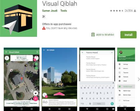 Aplikasi Kompas Penunjuk Arah Kiblat 3D