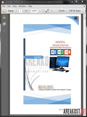 Halaman Awal Modul Microsoft Office by AKN