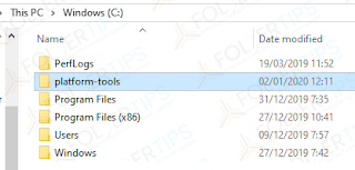 extracted folder to drive C:
