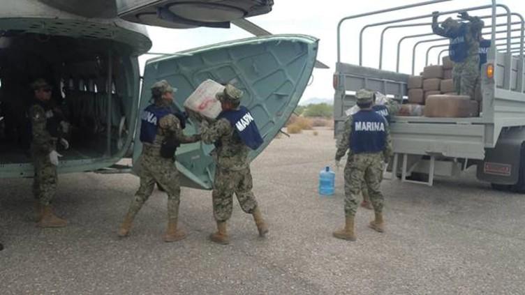 Se les olvido la merca, Marina madrugan a sicarios les decomisa casi 2 toneladas de droga en embarcación abandonada en Sonora