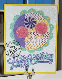 Lolliop Happy Birthday Card and How To Glue Small Pieces