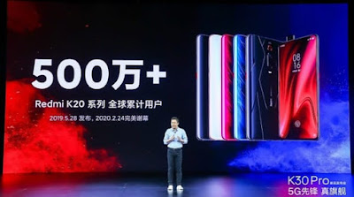 Over 5 million units of the Redmi K20 series have been sold