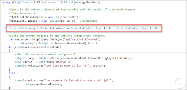 Connect to Dynamics CRM / D365 WebApi v9 from Console Application C#
