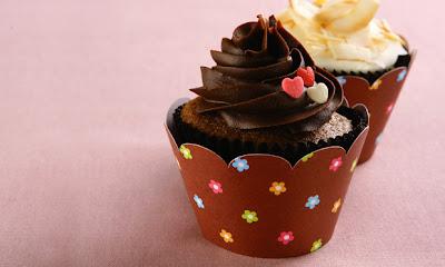 Cupcake com cobertura