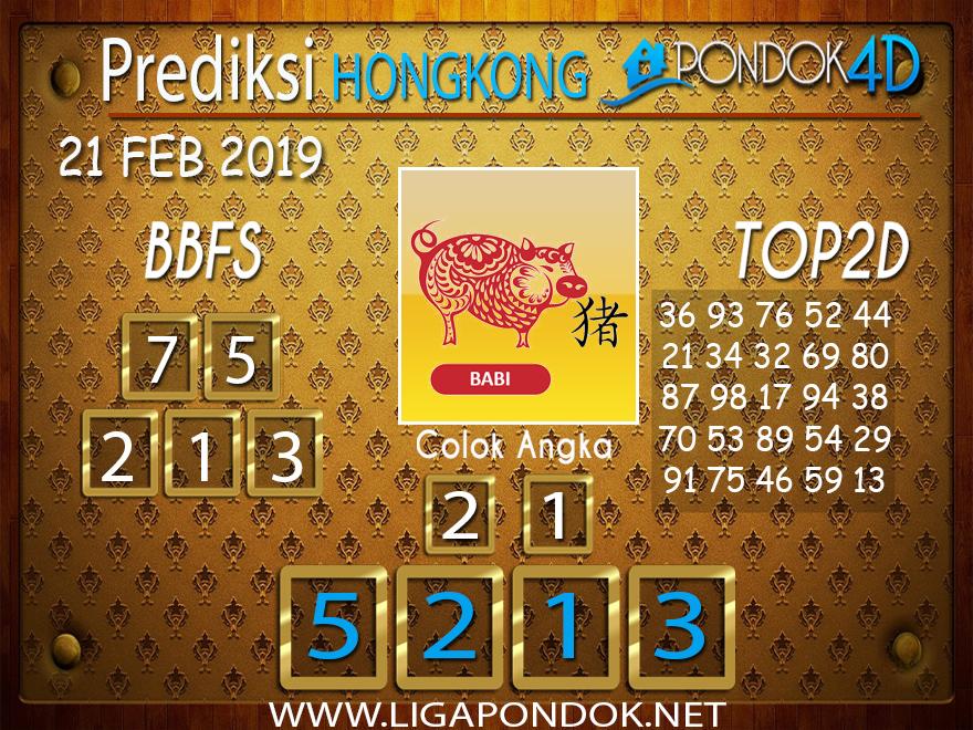 Prediksi Togel HONGKONG PONDOK4D 21 FEBRUARI 2019