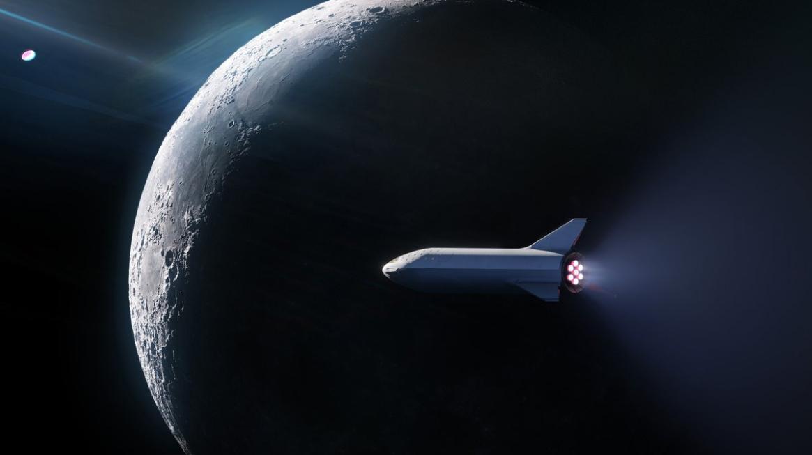 Turismo lunare: Prima missione SpaceX sulla Luna usando il super-razzo BFR.