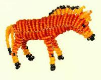 Маленькая лошадка пони из бисера