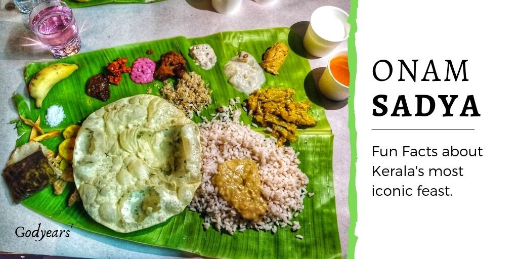 What are the traditional items served in the Kerala Onam Sadya?