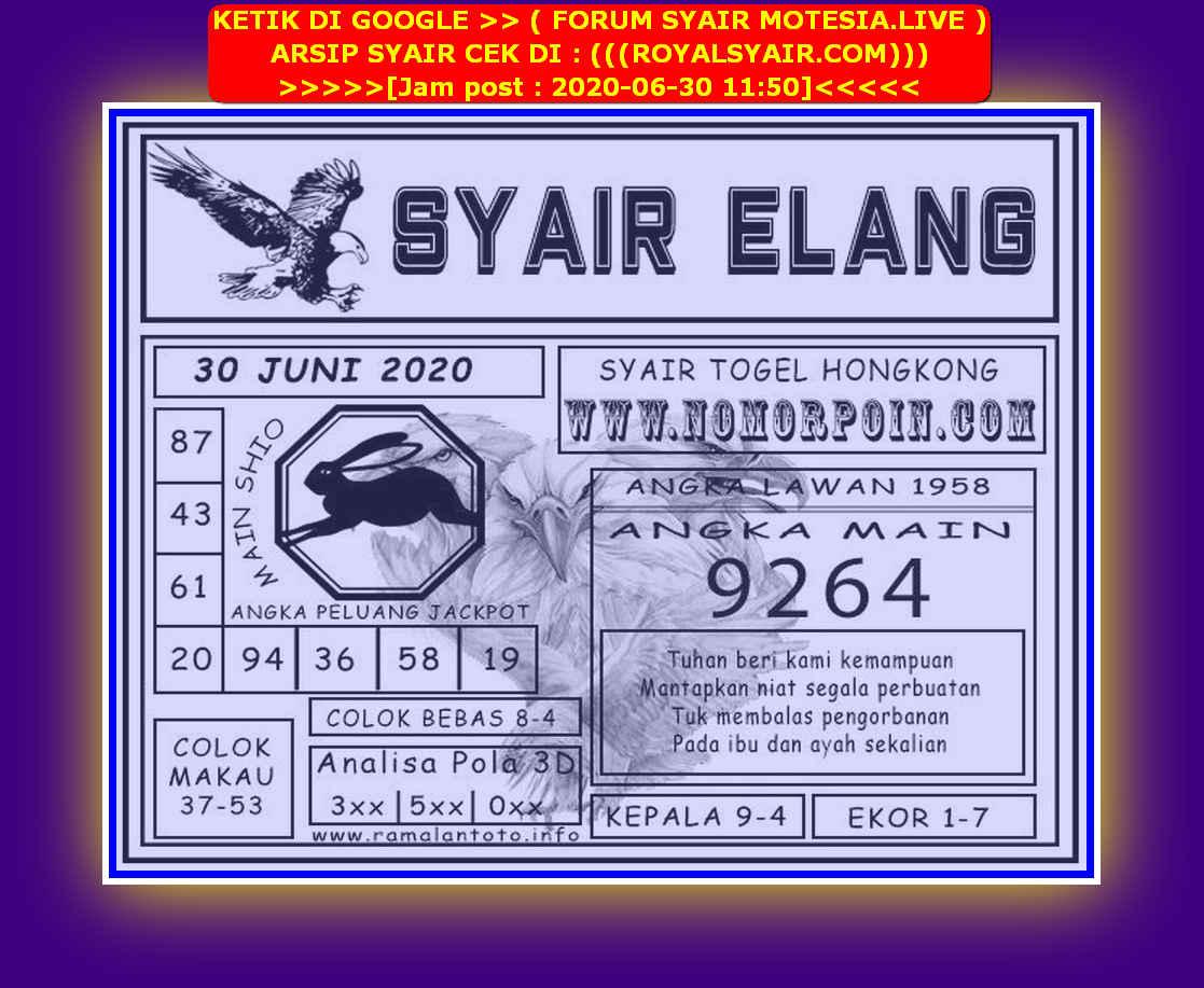 Kode syair Hongkong Selasa 30 Juni 2020 272