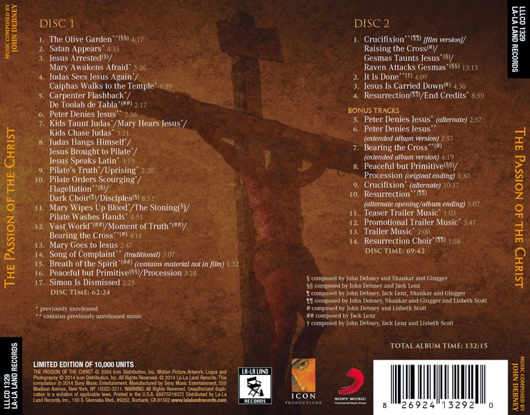 The Passion Of The Christ (Extended), John Debney