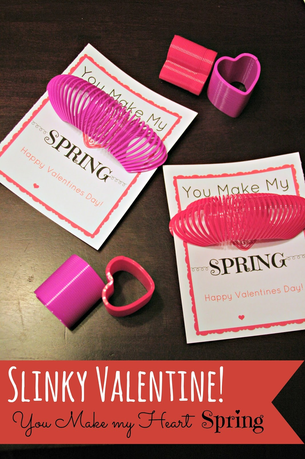 Valentines Day Printable, Valentines Slinky Idea, Valentines Printable  Slinky, Valentines Day Cards On