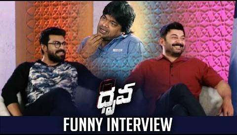 Harish Shankar Interviews Ram Charan & Arvind Swamy about Dhruva