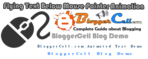 Install Flying Letters Below Mouse Pointer Animation in Blogger