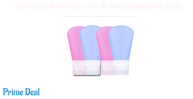 40% off 5 Pack Leak Proof Travel silicone Bottles -WELLNA 60ML Travel Containers for Travel silicone Size 6.2oz