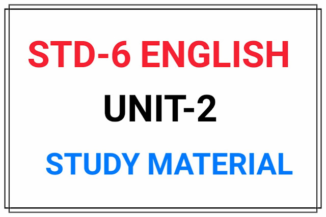 STD 6 ENGLISH UNIT-2 MATERIAL FOR TEXTBOOK Unit-2 (Ship can walk)