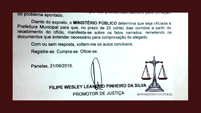 MP COBRA QUE PREFEITURA DE PANELAS SE POSICIONE SOBRE O CONCURSO