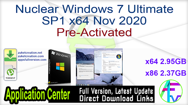 Windows 7 SP1 with Update [7601.24563] AIO (x86-x64) DEC2020 Pre-Activated