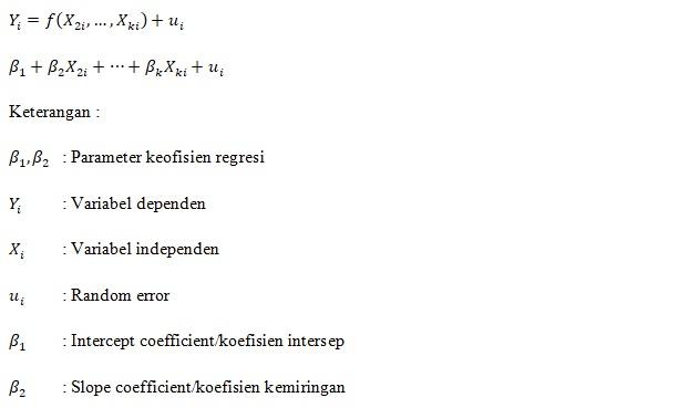 Notasi Analisis Regresi PRF