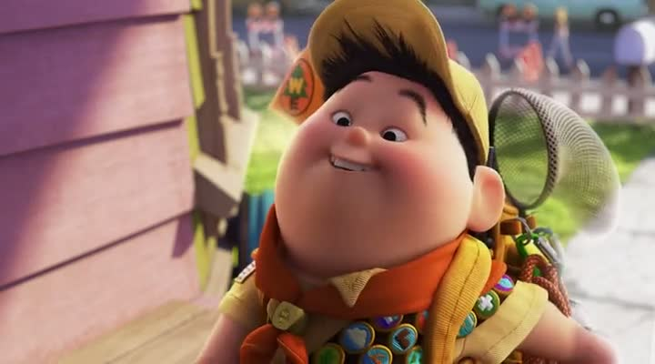 Screen Shot Of Up (2009) Dual Audio Movie 300MB small Size PC Movie