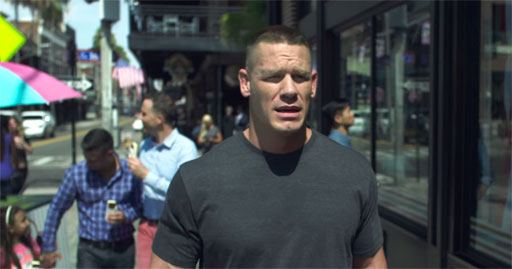 WWE movie star John Cena explains that patriotism, love of country, is about diversity, not division