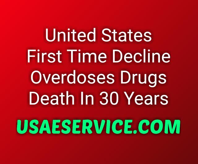 U.S. Decline Overdoses Drugs Death In 30 Years