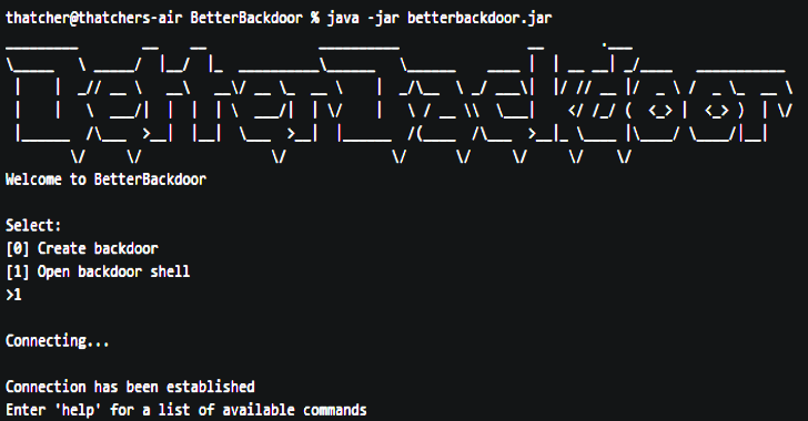 BetterBackdoor : A Backdoor With A Multitude Of Features