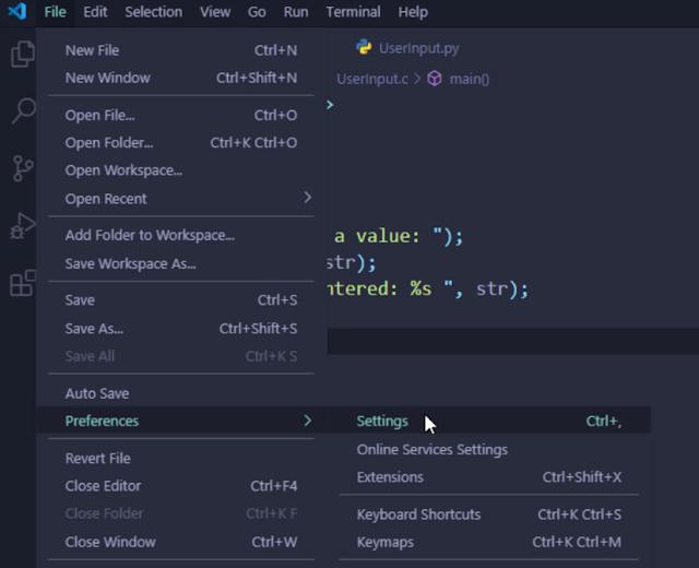 vscode settings