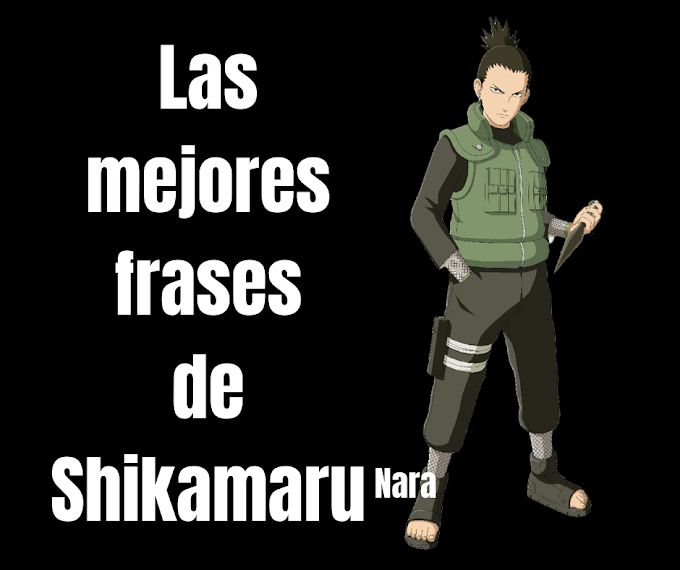 Las mejores Frases De Shikamaru Nara, Naruto