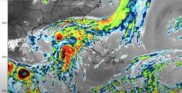 Este jueves por la noche habría depresión tropical en el Golfo de México