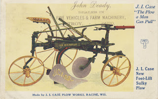 advertisement for J. I. Case sulky plow