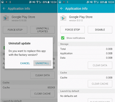 Uninstall Play Store modernize
