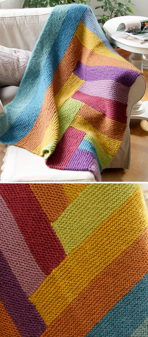 Abstract Rainbow - Free Knitting Pattern