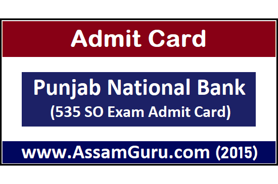 Download 535 SO Exam Admit Card