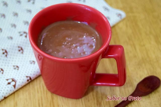 chocolate quente receita com 3 ingredientes