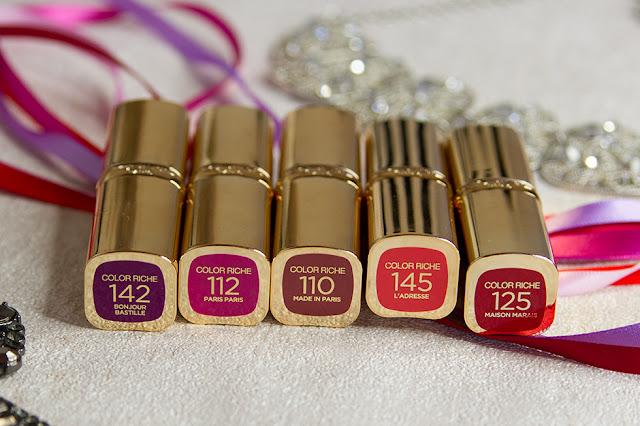 L'Oreal – Color Riche Satin Lippenstifte