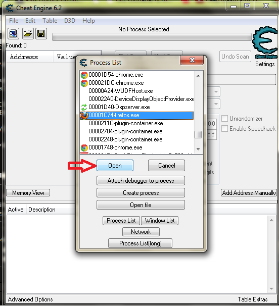 Enable speedhack cheat engine