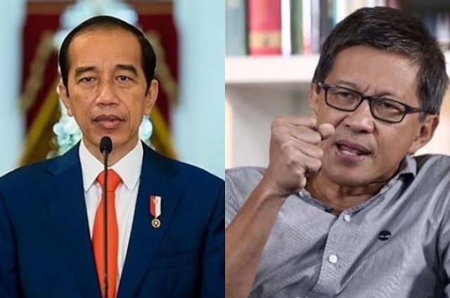 Rocky Gerung kritik presiden Jokowi