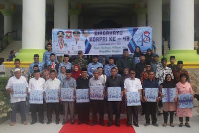 Kakankemenag Tanjungbalai Hadiri Upacara HUT KORPRI Ke-48