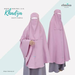 Bergo Syari Khadija Elmina - Bergo Syari Cadar/Niqab - Bergo Syari Polos
