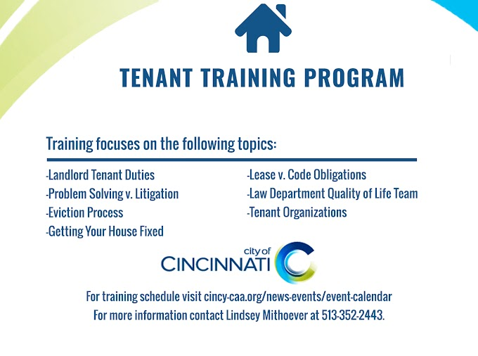 Free Tenant Training Program Offered