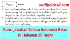 Kunci jawaban dan pembahasan soal bahasa indonesia kelas xi semester 2. Kunci Jawaban Bahasa Indonesia Kelas 10 Halaman 25 Tugas Wali Kelas Sd
