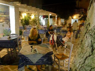 Dinner Naoussa Paros Greek Islands Greece