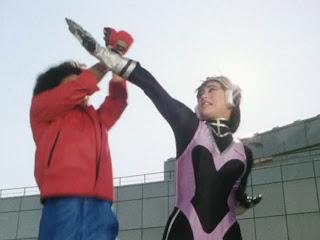 yukari oshima as farrah cat in bioman