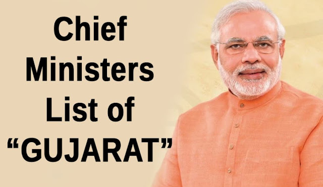 "List of Chief Ministers of ""Gujarat"" + Facts - From 1960 - 2016 (Updated)"