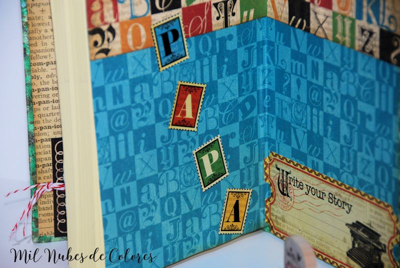 Libreta handmade con papel pintado Día del padre