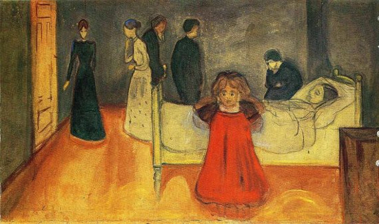 """The Dead Mother"" karya Edvard Munch"